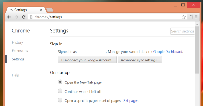 Synchronize your data into Chrome
