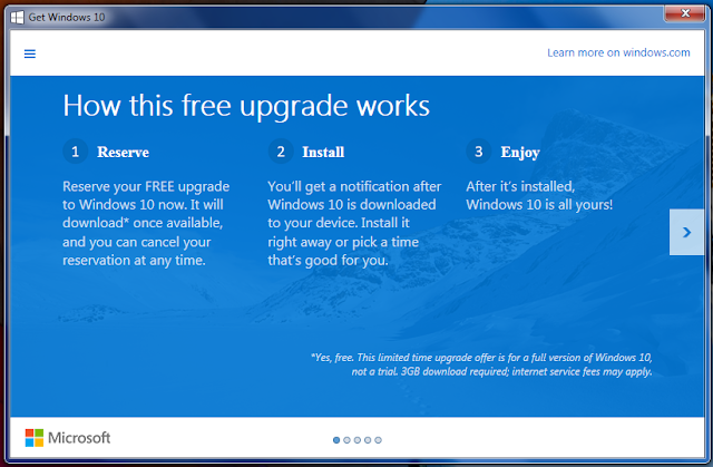 Get Windows 10 app not showing in Windows 7 / Windows 8.1